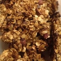 Oat granola and hazelnuts