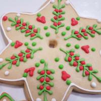 Árbol de navidad con galletas decoradas paso 7