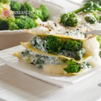 Lasagna of carasau bread and broccoli