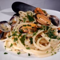 Espaguetis Mejillones Y Almejas