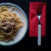Spaghetti quadrati con Carciofi e Tonno