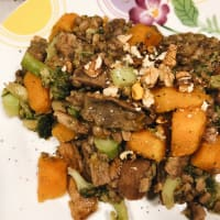 Lentils and spelled of winter