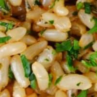 Arroz integral con salsa de soja.