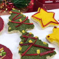 Sándwiches de navidad paso 17