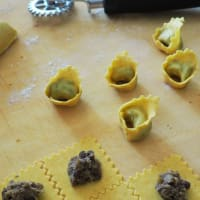 Tortelli filled with roasted lentils