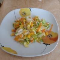 Ensalada Rizada Con Hinojo, Zanahorias Y Maíz