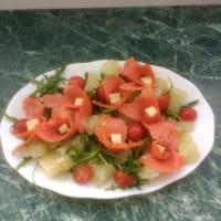 Salmon salad step 4