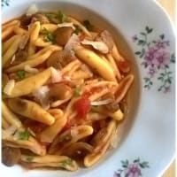 Cicatelli with mushrooms