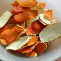 Harina de naranja paso 1