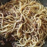Spaghetti Tonno E Pate' Di Olive step 4