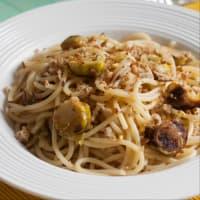 Spaghetti al limone con cavoletti. step 3