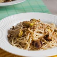 Spaghetti al limone con cavoletti. step 5