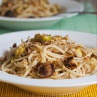 Spaghetti al limone con cavoletti. step 6