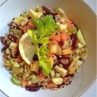 Insalata di Bulgur e Quinoa con ortaggi croccanti
