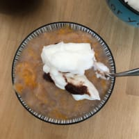 Pumpkin and cinnamon albumen cream