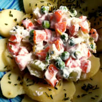 Patatas En Salsa Rusa