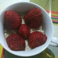Chocoporridge con fragole