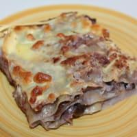 Lasagna with radicchio