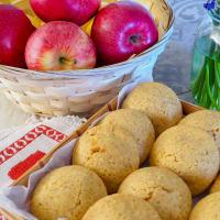 Galletas integrales de corazones de manzana