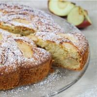 Tarta de manzana sin leche y sin mantequilla.