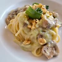 Vermicelli in Leek Cream, Noci mushrooms