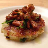 Potato rostis and celeriac with mushrooms step 7