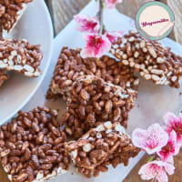 Puffed and Chocolate Rice Bars