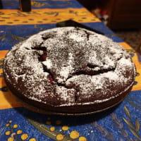 Torta veloce cioccolato e fragole step 5