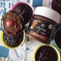 Muffins de proteína de cacao para deportistas.