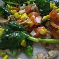 Insalata di spinaci e tonno