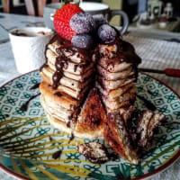 Vanilla cinnamon protein pancake