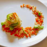 Tagliolini con Asparagi, Carote e granella di Nocciole