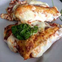 Gluten-free savory crepes in double version.