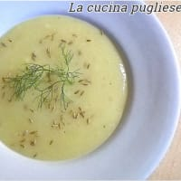 Cream of potato and fennel