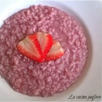 Rice with strawberries