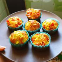 Muy sabrosos muffins salados con verduras!
