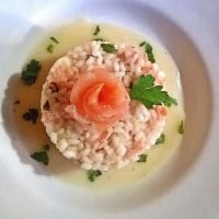 Risotto With Salmon Smoked