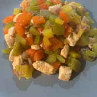 Chicken and pepper salad