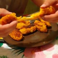 Crocchette filanti di patata dolce
