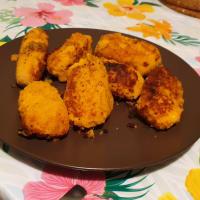 Stringy sweet potato croquettes step 3