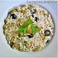 Risotto with olives