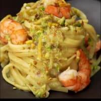 Spaghetti gamberi e pistacchi al profumo di limone step 4
