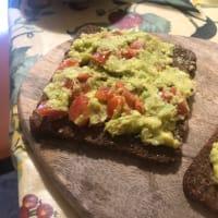 Avocado toast with salmon step 4