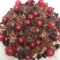 Porridge di ribes e cioccolato