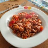 Farro salsiccia e pomodorini step 3