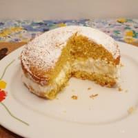 Vanilla cupcakes with milk cream step 9
