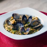 Rice with Clams and Lemon Vegetables