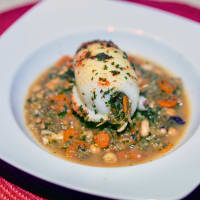 Cuttlefish Stuffed With Carrots And Chickpeas