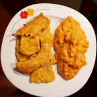 Turmeric turkey with sweet potato puree