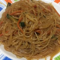 Soy spaghetti with vegetables!